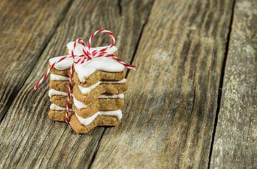 Kerstgeschenk gestapelde koekjes van Alex Winter