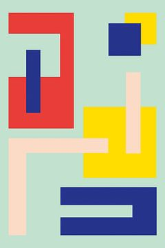 Minimalistische Geometrie nr. 6 van Pascal Deckarm