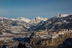 Zonnige winterdag Mont-Dauphin