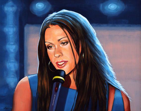 Alanis Morissette schilderij van Paul Meijering