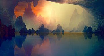 Die Höhle und der See von Angel Estevez