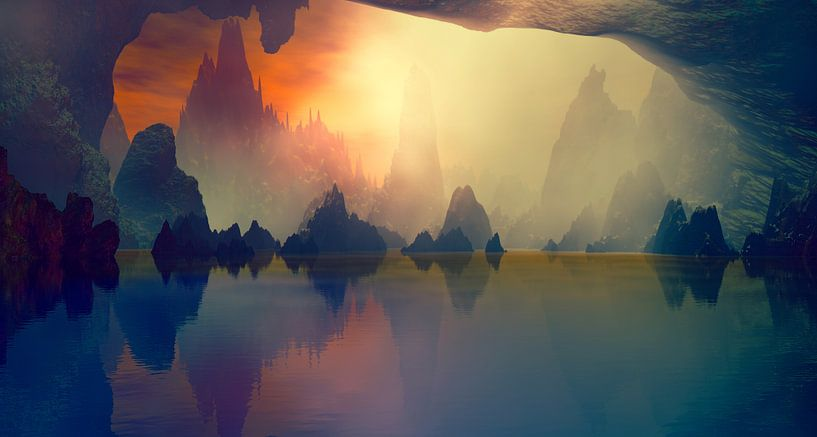 La grotte et le Lac van Angel Estevez