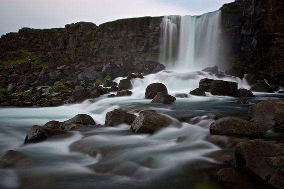 Öxarárfoss, IJsland van Eddo Kloosterman