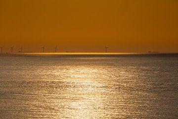 Windmolens bij zonsondergang 9 van