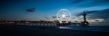Architectuur - De pier van Scheveningen avond opname von MICHEL WETTSTEIN