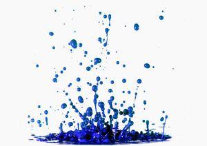 Blauwe verf
