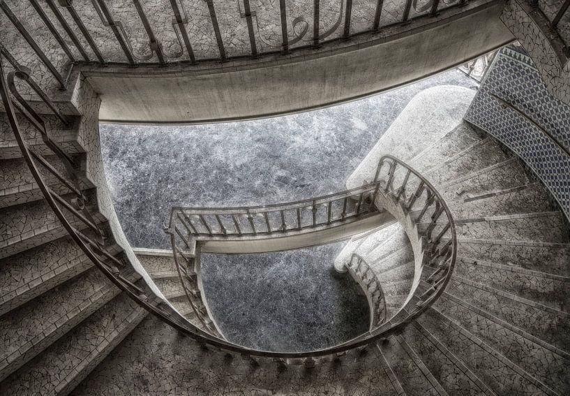 Spiraal trap van Marcel van Balken