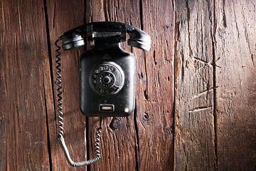 altes Telefon aus Bakelit von Jürgen Wiesler