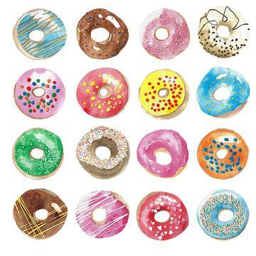 Heel veel getekende donuts van Ivonne Wierink