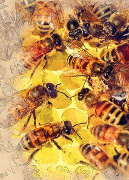 Bienen Tier Kunst #Biene #Bienen von JBJart Justyna Jaszke