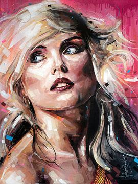 Peinture de Blondie (Debbie Harry) sur Jos Hoppenbrouwers