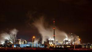Industrie stoompluim op de Chemelot Campus in Geleen van