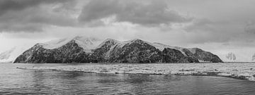 Panorama mysterieuze berg Antartica