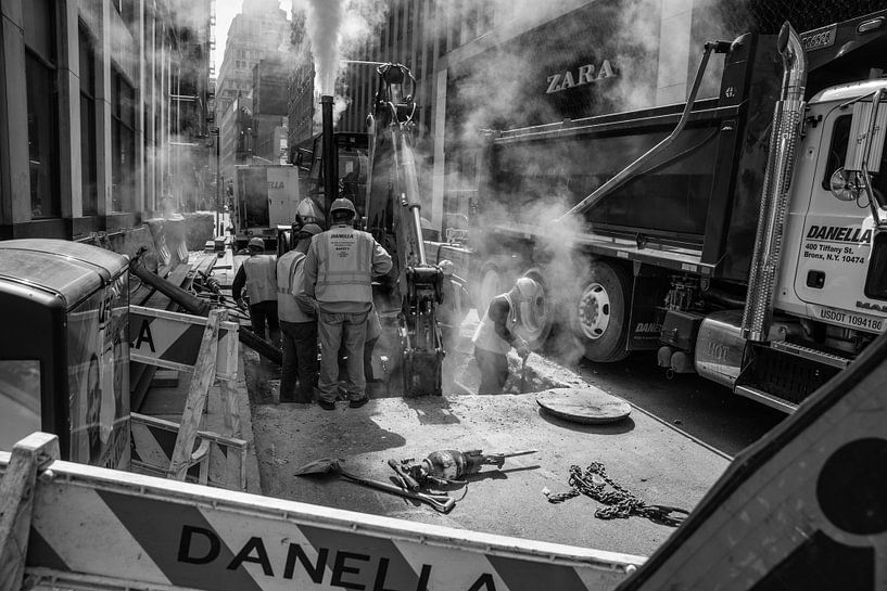 Straat werkers van New York van Mascha Boot