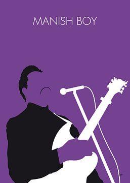 No061 MY Muddy Waters Minimal Music poster van