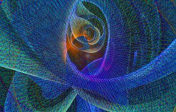Dynamiek, blauw-groen van Rietje Bulthuis