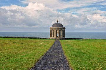 De Mussenden Temple, N. Ierland. van