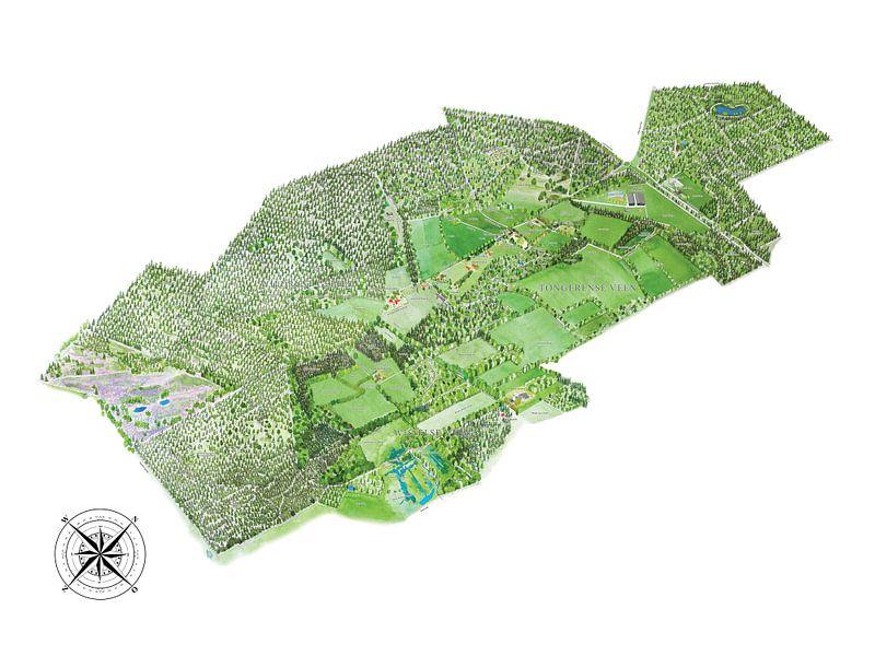 Landkaart van Tongeren - Versie 2 van Wereldkaarten.Shop