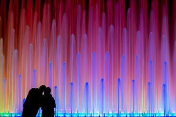 Romantische fontein van Joost Potma