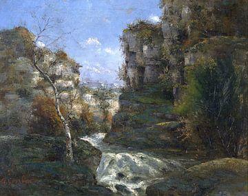 Landschaft mit Felsen bei Ornans, Gustave Courbet von Atelier Liesjes