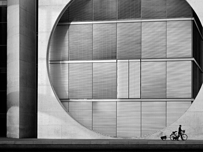 Berlin – Marie-Elisabeth-Lueders-Haus / Government District van Alexander Voss