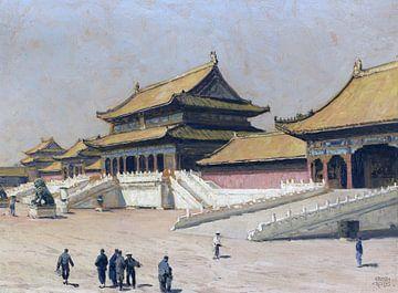 In der Verbotenen Stadt in Peking, ERICH KIPS, Ca. 1928 von Atelier Liesjes