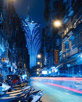 Diep blauwe nacht van Rudmer Hoekstra