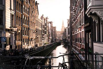 Oudezijds Kolk, Kanal in Amsterdam von Hans Wijnveen
