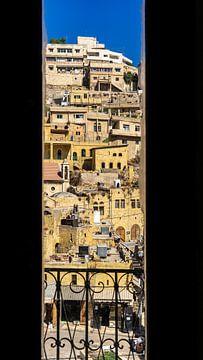 De straten van Amman, gezien vanaf een balkon (Jordanië) van Jessica Lokker