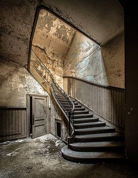 Alte Treppe von Olivier Van Cauwelaert