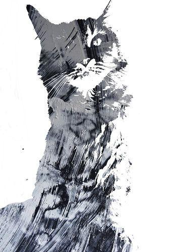 Kattenkunst - Diva 8 von MoArt (Maurice Heuts)