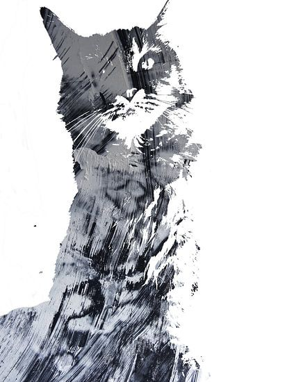 Kattenkunst - Diva 8 van MoArt (Maurice Heuts)
