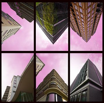 Straßengebäude rosa von Bob Crooymans