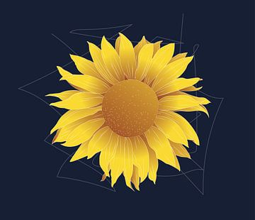 Zonnebloem illustratie van Oscuro design