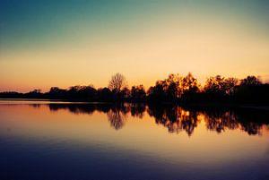 See im Sonnenuntergang