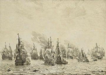 De zeeslag bij Livorno, Willem van de Velde