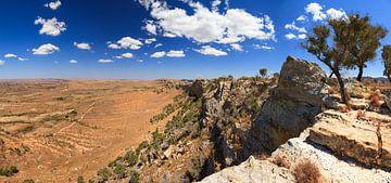 Isalo hoogvlakte panorama van