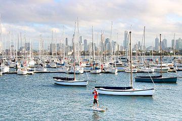 Zeilboten in Jachthaven van Melbourne van The Book of Wandering