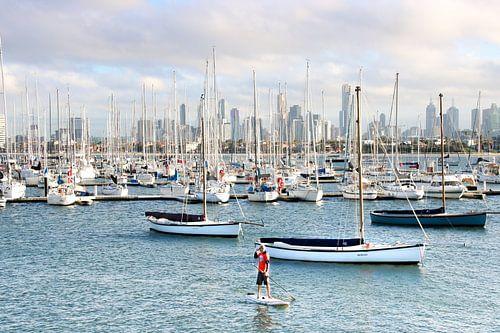 Zeilboten in Jachthaven van Melbourne