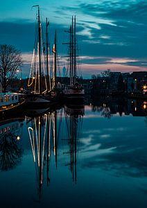 Spaarne Morning Blue von Alex C.