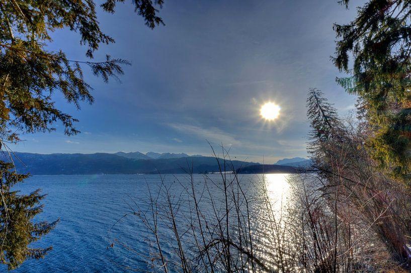 Aus dem Wald auf den Walchensee von Roith Fotografie