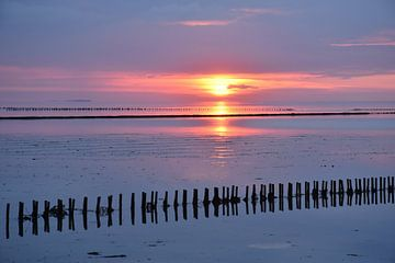 Wattenmeer wie ein Gemälde / Wadden Sea like a painting von Henk de Boer