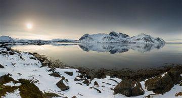 Arctic Sunset van Dion van den Boom