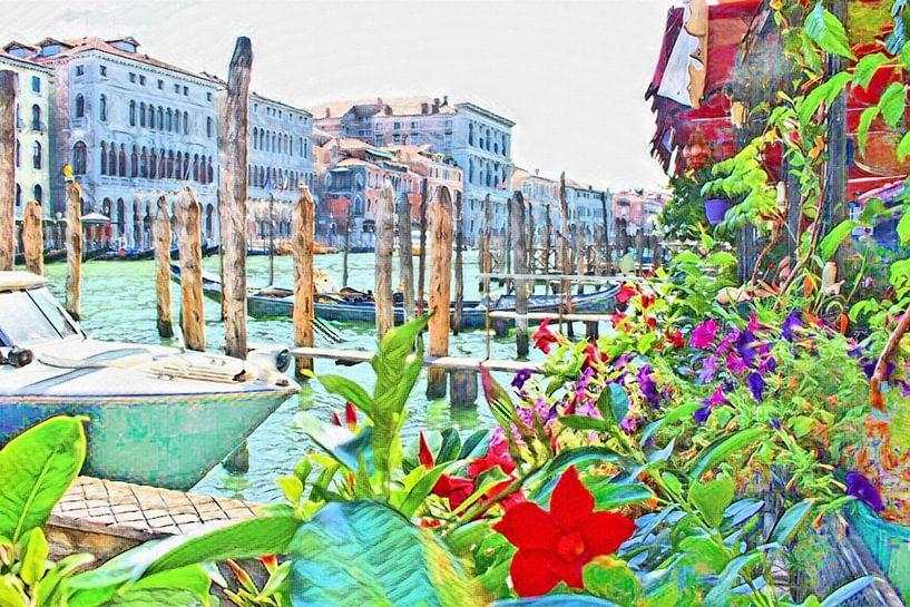 Venise en fleurs sur Loretta's Art