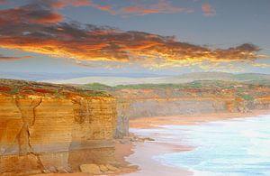 Aarde, water, lucht en vuur landschap, Australië