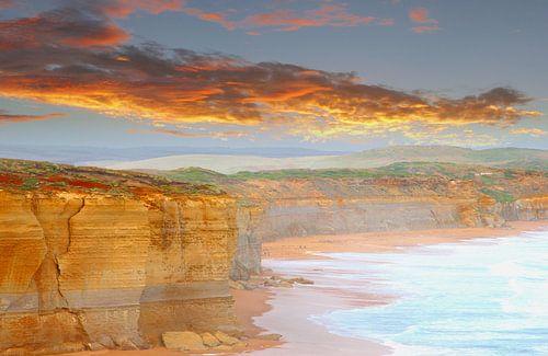 Erde, Wasser, Luft und Feuer Landschaft, Australien von Inge Hogenbijl