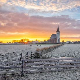 Zonsopkomst den Hoorn op Texel. van Justin Sinner Pictures ( Fotograaf op Texel)