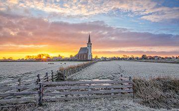 Sonnenaufgang den Hoorn auf Texel. von Justin Sinner Pictures ( Fotograaf op Texel)