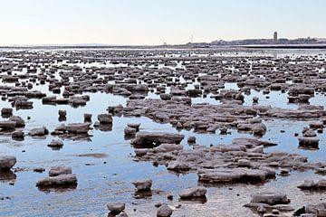 Waddenzee vol ijs bij Terschelling van Mooi op Terschelling