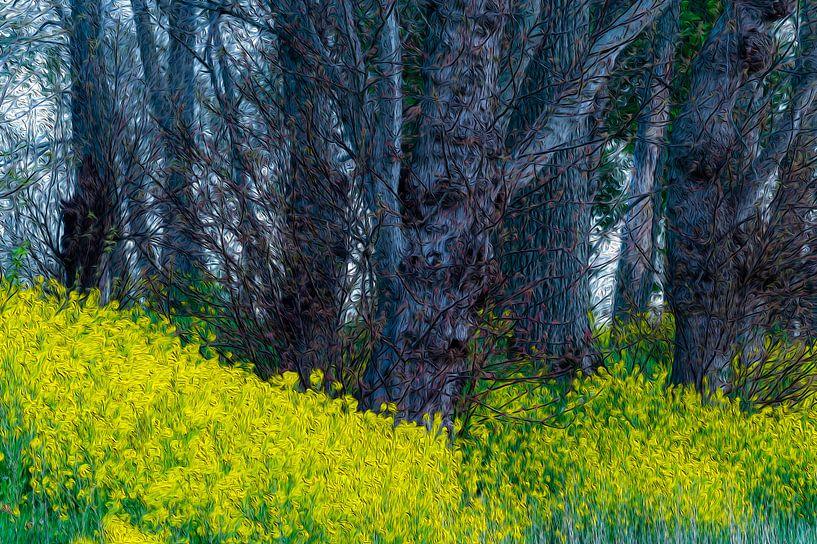 Lente geel van Andrew George